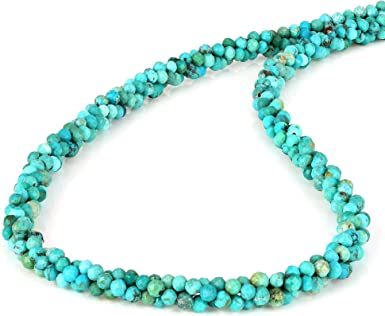 Natural Stone Necklace Blue and Red Stone Necklace Turquoise Statement Necklace Chinese Turquoise and Red Garnet Necklace