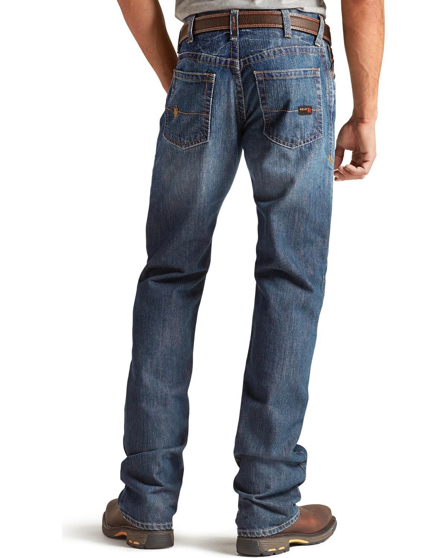 Ariat Men's M4 Flame Resistant Alloy Boot Cut Jeans Indigo 33W x 32L