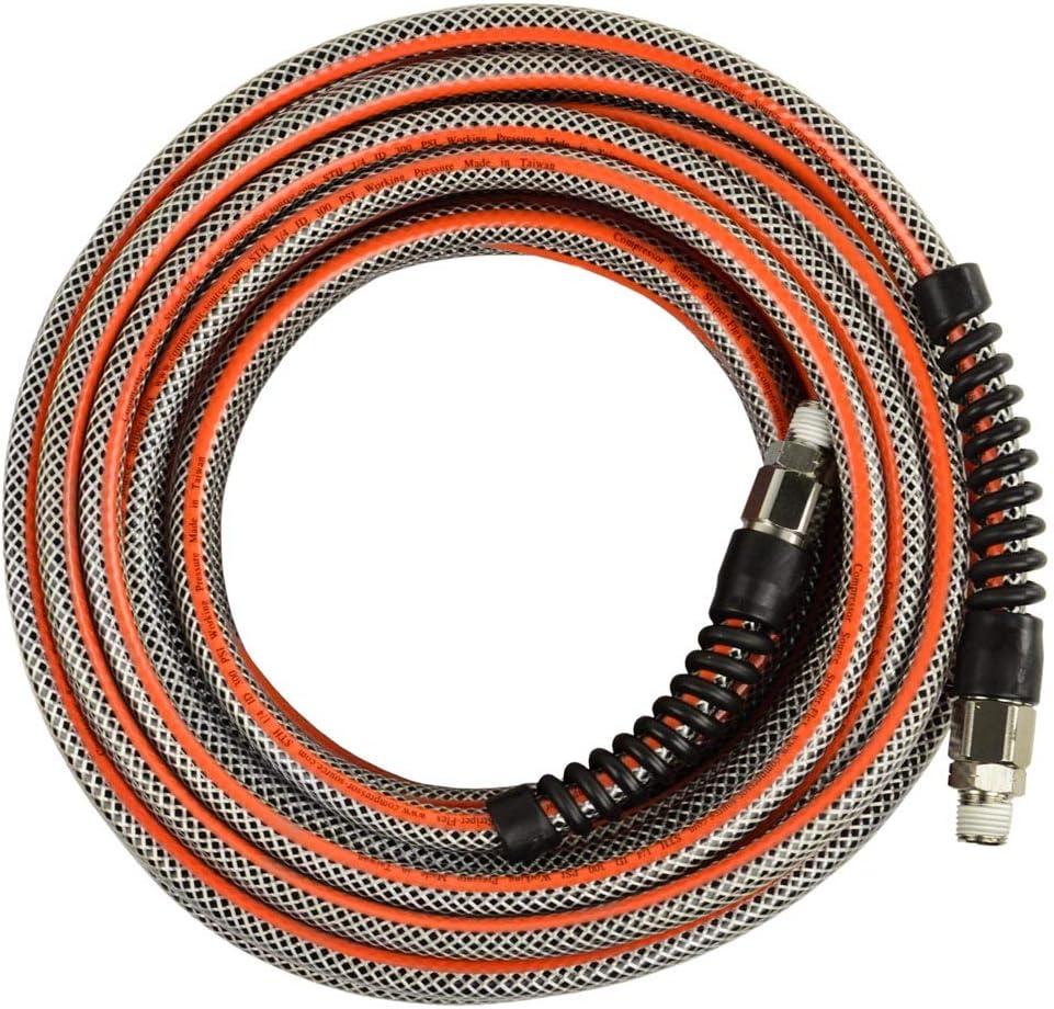 1//4 x 15 Ft Striper Flex Reinforced Hybrid PVC Air Hose Bend Restrictors 300 PSI