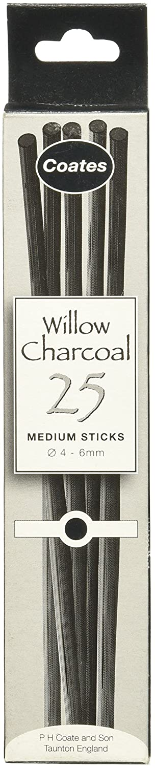 Global Art Materials PH Coates Willow Charcoal, Medium Notions - In Network 5032341000017