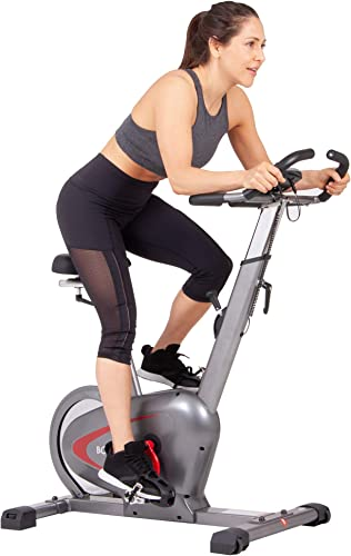 Body Rider Indoor Upright Bike with Curve Crank Tech and Rear Drive Flywheel BCY6000, Grey Black Red