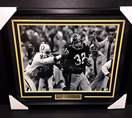 f690edab81a Signed Franco Harris Picture - Immaculate Reception 16x20 Framed Coa -  PSA/DNA Certified -