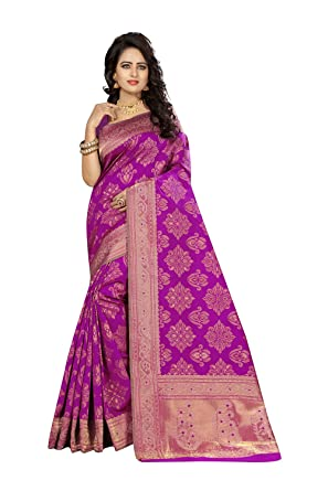Indian Sarees For Women Party Wear Designer Wine Color In Rani Kanjivaram Silk