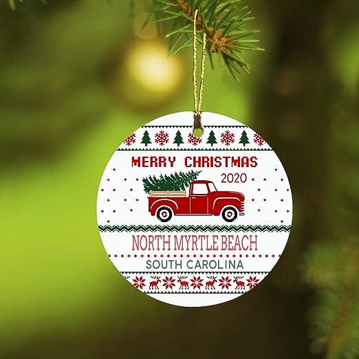 Myrtle Beach Christmas 2020 Amazon.com: Christmas Tree Ornaments Decorations Merry Christmas