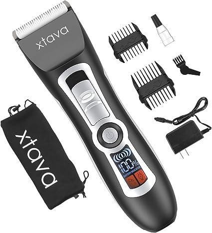 Corta pelos y corta barbas sin cable xtava Pro - Batería de larga duración de 4,5 horas, pantal...