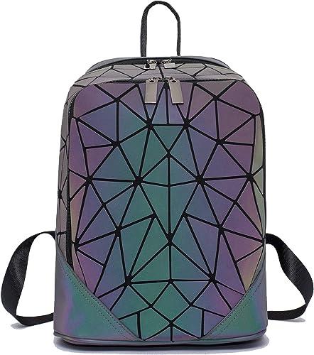 Geometric Backpack Luminous Backpacks Holographic Reflective Bag Lumikay Bags Irredescent Rucksack Rainbow NO.9