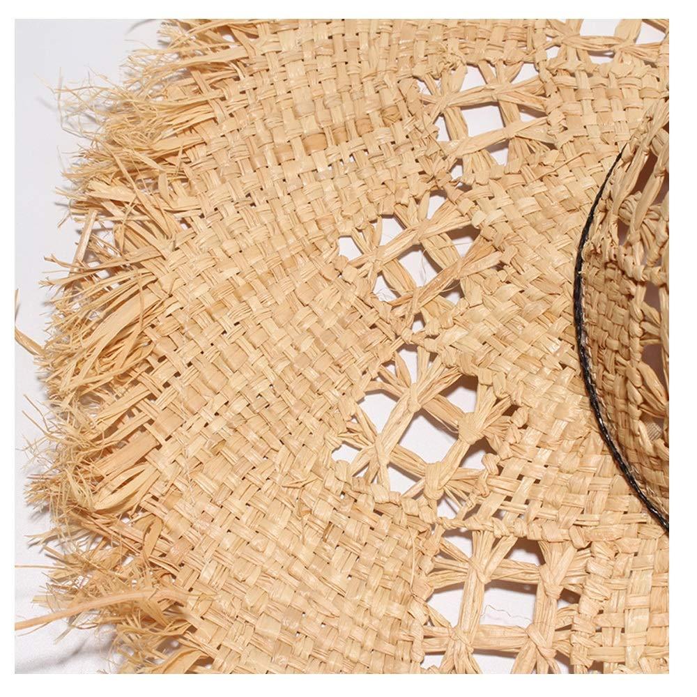 Beach Hat Sun Hat Summer Straw Hat Raw Edge Ladies Bow Big Straw Hat Visor