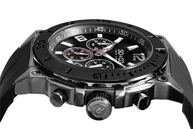 Amazon.com: SO & CO New York Yacht Timer 5231.2 Mens Chronograph Black Case Silicone Rubber Strap Date 10 ATM Quartz Wrist Watch: SO & CO: Watches
