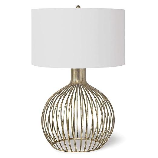 Amazon.com: Lámpara de mesa Abby (hoja de oro): Home Improvement