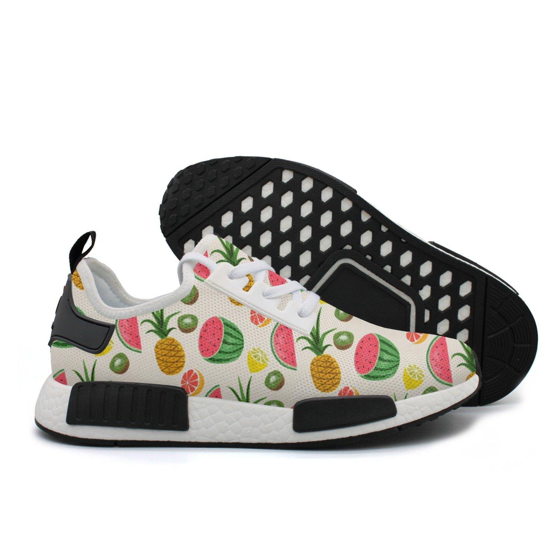 HSJDAPOCOAQ Fruits Pineapple Watermelon Kiwi Girls' Sneakers Fitness Shoes