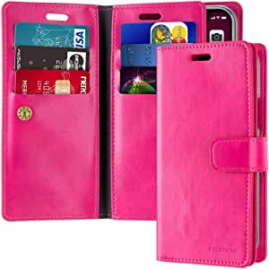Leather Protection Cover for iPhone 11 Wallet with Multi Pockets Case, Pink