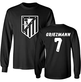 Tcamp Atletico Madid Shirt Antoine Griezmann #7 Jersey Mens Long Sleeve T-shirt