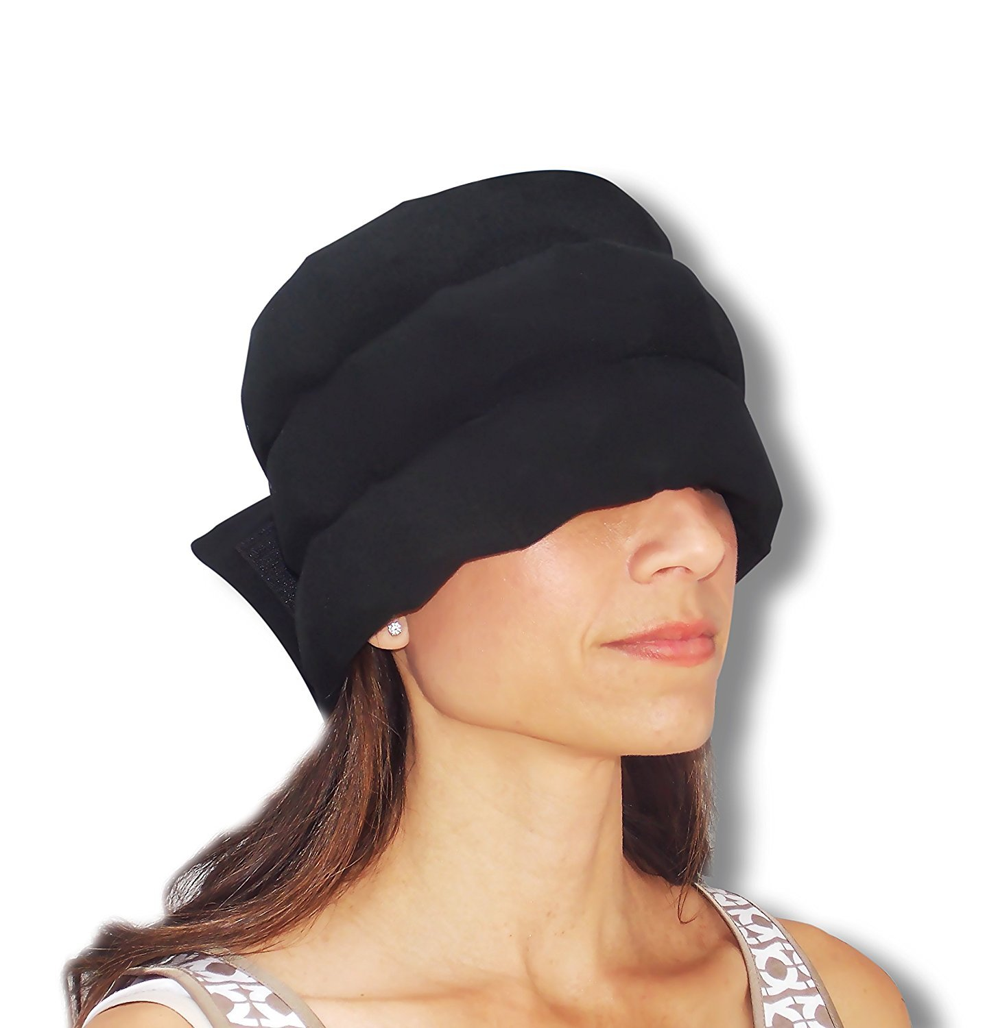 Headache Hat - The Original Wearable Ice Pack for Migraine Headaches and Tension Relief - Regular Size