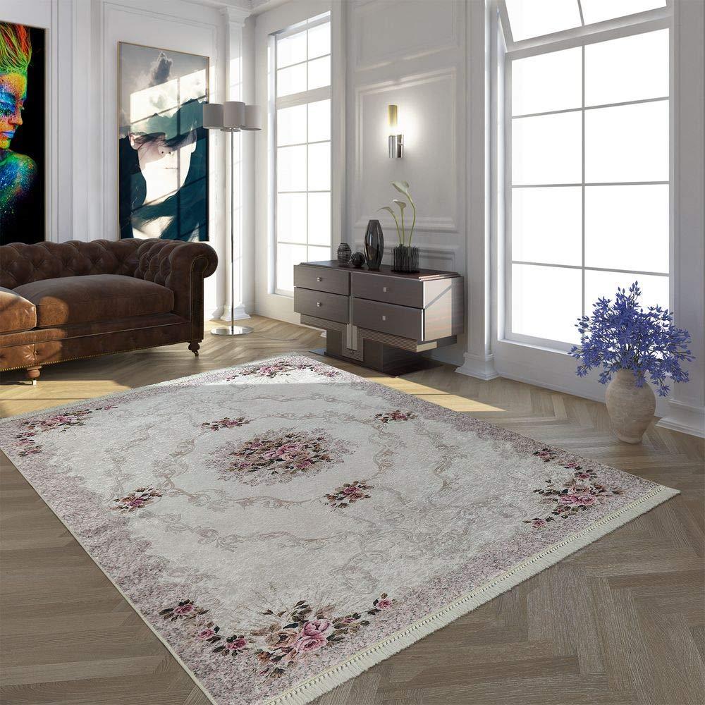 Paco Home Moderner Teppich Mit Bedrucktem Trend Muster Orient Design In Beige Creme Rosa, Grösse 160x230 cm