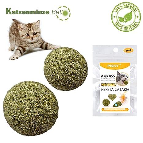 2 Catnip Juguetes Gatos Bola Matatabi Juguete Masticar Gatito De Mascotas Limpieza Dientes Saludable Cuidado EcolóGico