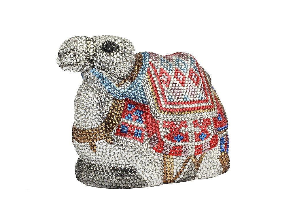 Yilongsheng Las mujeres del camello forma bolsas de embrague de la manera cristalina para la boda(multicolor): Amazon.es: Zapatos y complementos