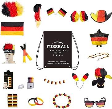 Conjunto de artículos Umoi para fans de Alemania, para aficionados de las olimpiadas o el fútbol, Allround-Set: Amazon.es: Deportes y aire libre