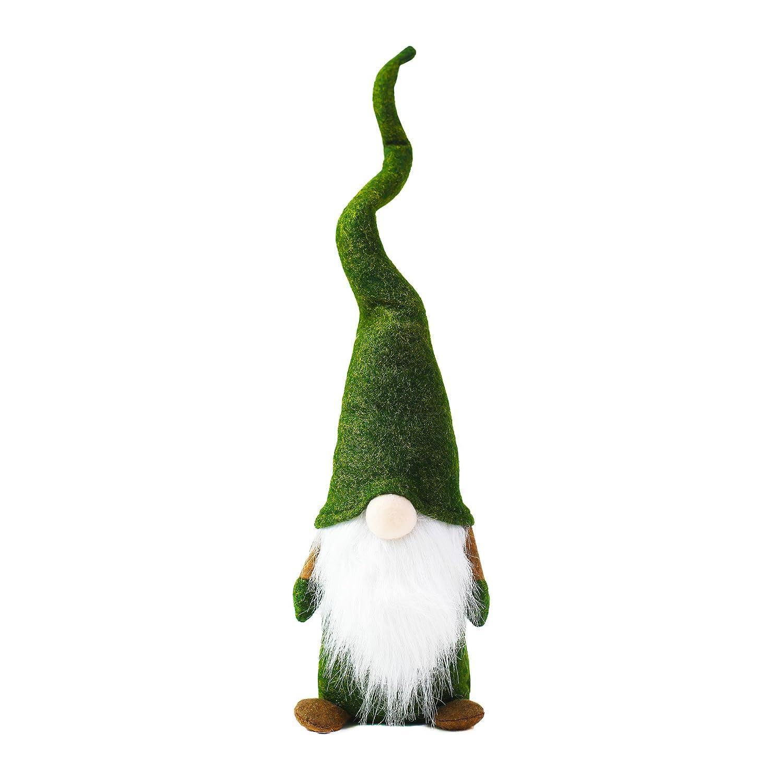 ITOMTE Handmade Swedish Gnome, Scandinavian Tomte, Plush Toy Winter Table Ornament Decoration, Yule Santa Nisse, Nordic Elf Figurine St. Patricks