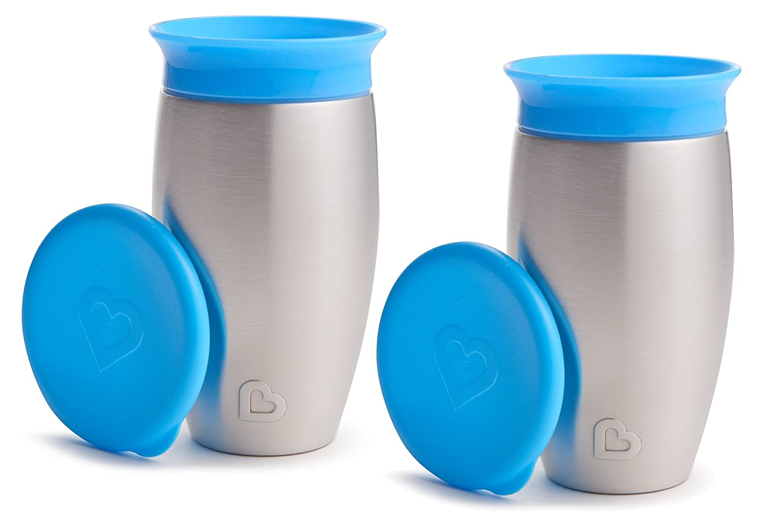 10 Ounce Munchkin Miracle Stainless Steel 360 Sippy Cup Blue
