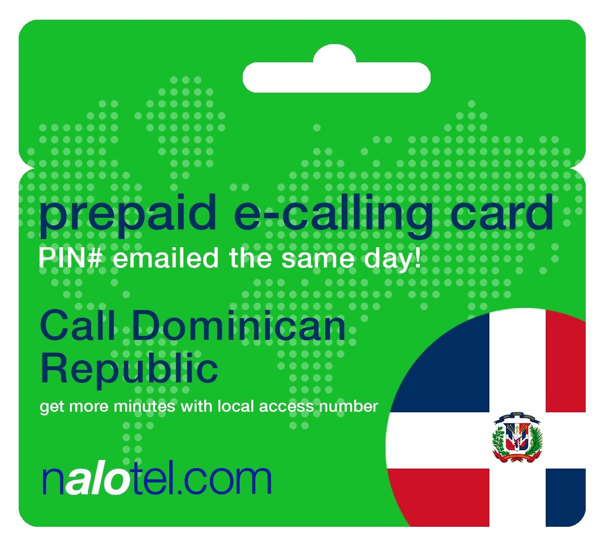 Prepaid Phone Card - Cheap International E-Calling Card $10 for Dominican Republic with same day emailed PIN, no postage necessary