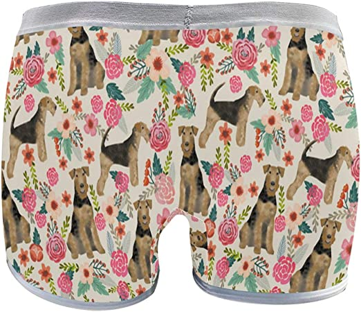 Boston Terrier Florals Boxer Briefs Mens Underwear Pack Seamless Comfort Soft