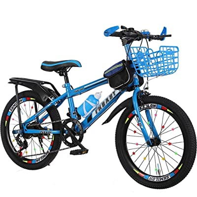 Kids' Bikes Bicycle Boy Girl Bicycle Student Travel Bicycle Variable Speed Adjustment Bicycle 5~15 Years Old Outdoor Children Bicycle Mountain Bicycle (Color : Blue, Size : 18inches): Home & Kitchen