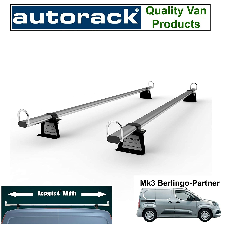 2018-onward Ladder Bars Autorack Products Van Roof Rack 2 Bars for New PEUGEOT PARTNER Van Mk3