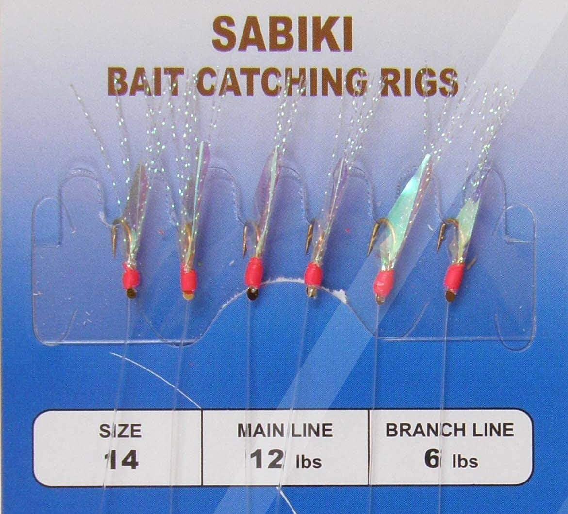 2 to 100 Packs Size #10 Sabiki Bait Rigs 6 Hooks  Saltwater Fishing Lures-467