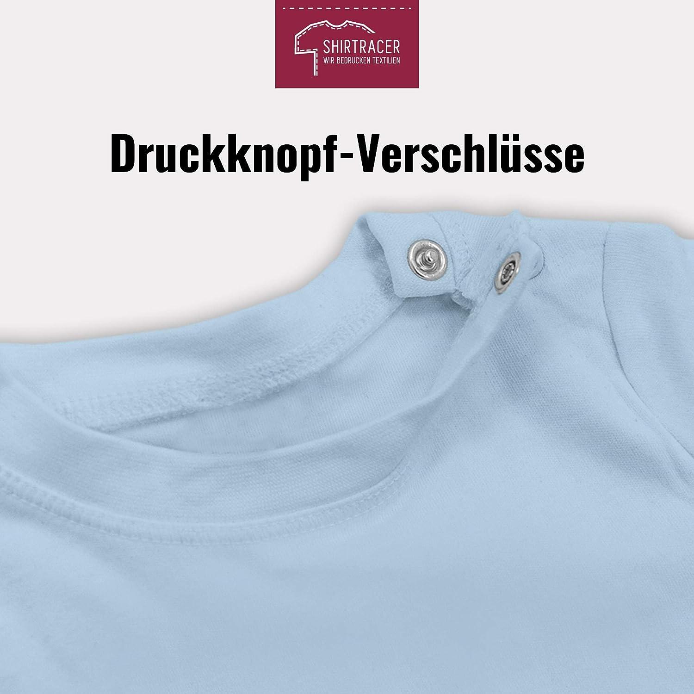 Muttertagsgeschenk Tochter /& Sohn Baby Baby T-Shirt Kurzarm Shirtracer Unser 1ster Muttertag im Herz Blau