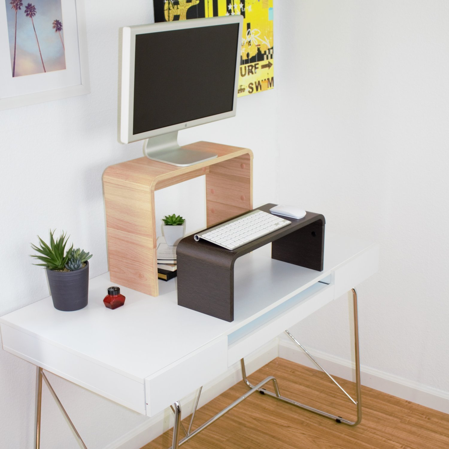 GORGEOUS Versatile, Modern, Adjustable Stand! Perfect for Laptop Stand for Standing Desk, Monitor Riser, Keyboard or Display. Great for Home or Office, Gaming, TV, Printer, Trade Show Display & more! by Stand Up Desk Pro