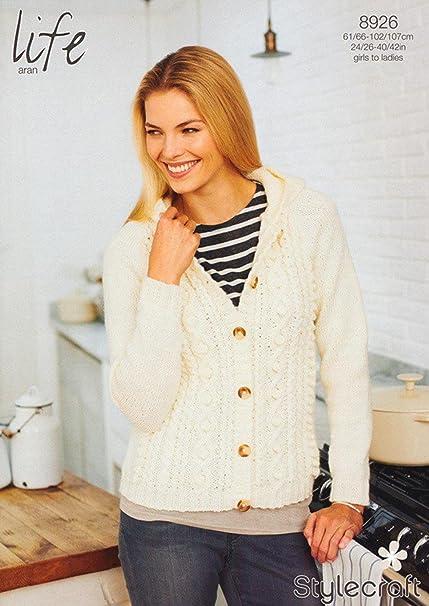 Stylecraft 8926 Knitting Pattern Ladies Cardigan In Stylecraft Life