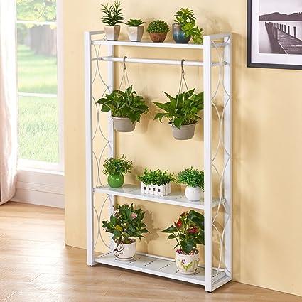 3 Tier Flower Plant Racks Shelf Iron Metal Standing Hanging Pots