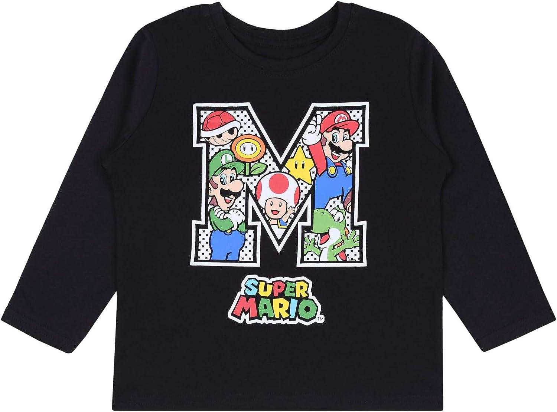 Camiseta Negra para niños Super Mario: Amazon.es: Ropa y accesorios