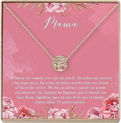 Amazon.com: Collar Regalo para Madre, Mamá, Día de la Madre ...