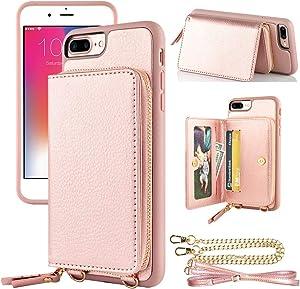 LAMEEKU iPhone 8 Plus Zipper Wallet...