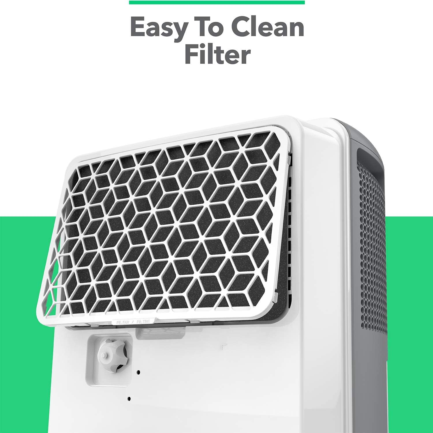 Vremi Dehumidifier 50 Pint 4,500 Sq. Ft.  | Easy to Clean Filter