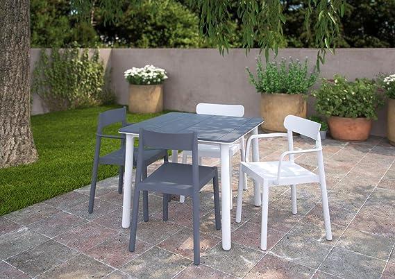 resol Mesa de jardín Exterior Cuadrada Noa 90x90 - Color Arena: Amazon.es: Jardín