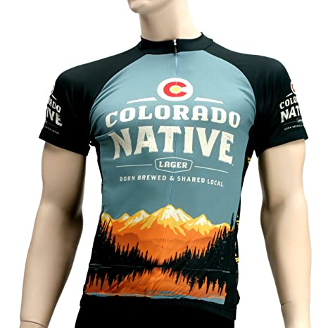 a149aa663 Colorado Native Beer Primal Wear Cycling jersey Men s Short Sleeve bike  bicycle