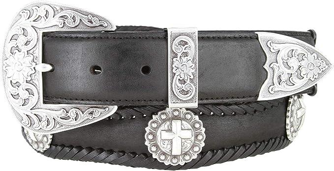 Texas Centennial Half Dollar Eagle Star Coin Concho Western Leather Scalloped Belt