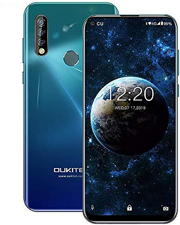 OUKITEL C17pro,Android Unlocked Phone Triple Camera Octa-Core 64GB ROM+4GB RAM 3900 mAh Unlocked Cell Phone 6.35 inch HD+ Display Android 9.0 Pie 4G Smartphone(Ice Blue)
