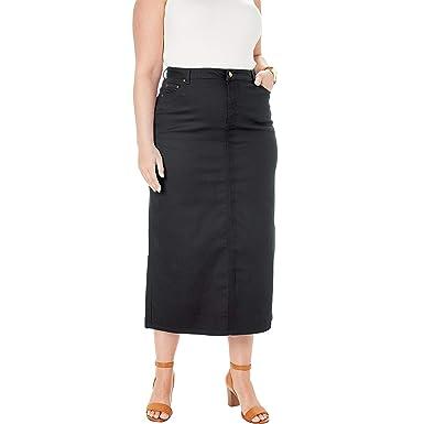 2d5e272205 Jessica London Women's Plus Size True Fit Denim Skirt at Amazon ...