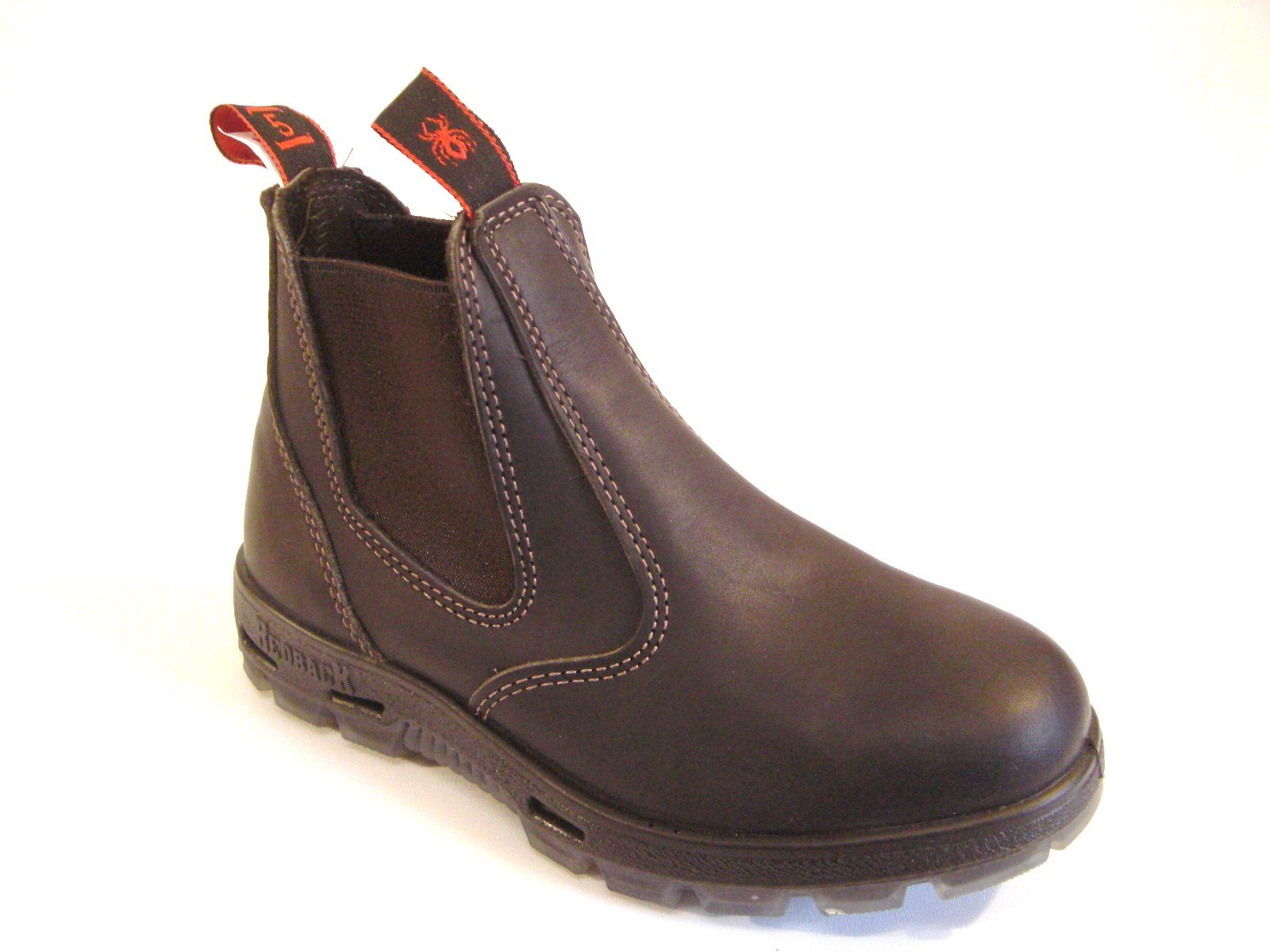7abb325ff73 RedbacK Men's Safety Bobcat USBOK Elastic Sided Steel Toe Dark Brown ...