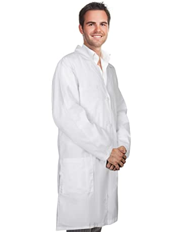 fef2944bdae Professional Men & Women Lab Coat Cotton Material 41 Inch Long (White)  Unisex Doctor
