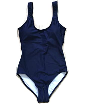 d926869bee7 Hot! Sexy Japanese Solid Sukumizu School One Pieces Swimsuit Shoulder  Bathing (S, Navy