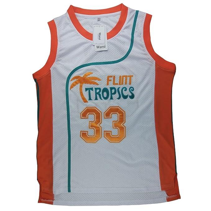 4d892c8dabba WANSI Mens 33 Flint Tropics Jackie Moon Semi Pro Basketball Jersey  Fan