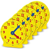 Learning Resources LER2202 Gear Clock, 4 Inch (Set of 6),Yellow,4 W in