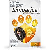 Simparica Chew Tab for Dogs 5.1-10 kg Pack, Orange, 6pk
