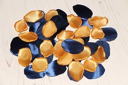 Amazon Com Blue And Gold Set Of 100 Navy Rose Petals Gold