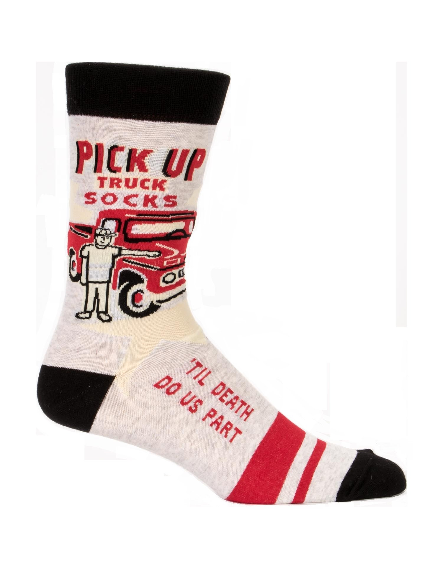 Blue Q Mens Pick up Truck Crew Socks Men's Shoe Size 7-12 by Blue Q