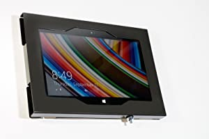 """TABcare Locking Security Metal Case for Lenovo 10"""" Tablet Supports Wall Mount 75/100 mm VESA (Black, Chromebook Duet 2-in-1)"""